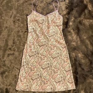J J. Crew lined paisley Dress size 2 casual